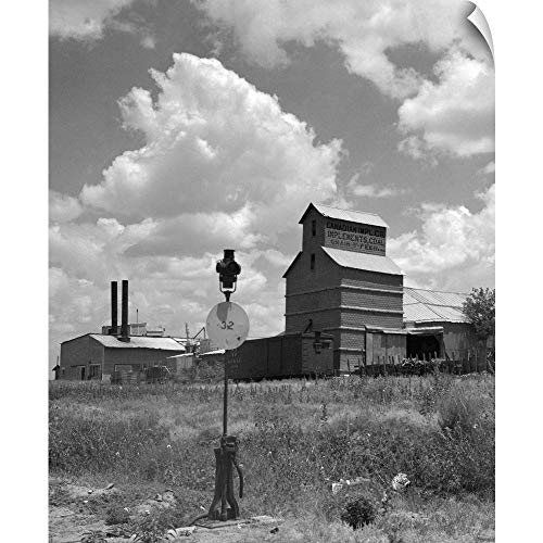 l Peel Wall Art Print Entitled 1920's 1930's Canadian Texas Panhandle Grain Elevator 10