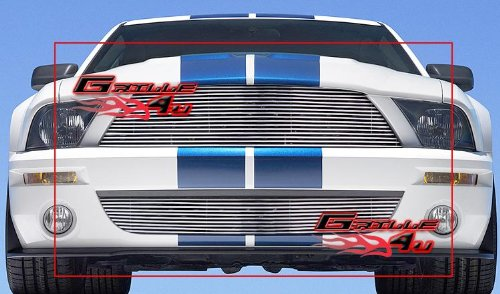 Ford Shelby 2007 Gt500 (APS 2007-2009 Ford Mustang Shelby GT500 Billet Grille Combo #S18-A27676F)