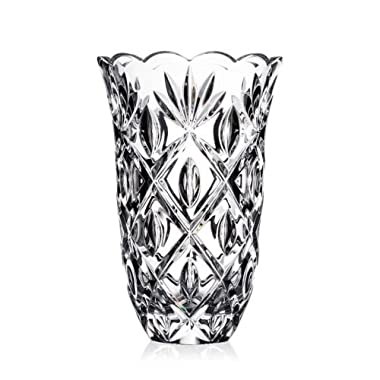 Waterford Heritage Sara Glass Flower Vase, 10 Inches