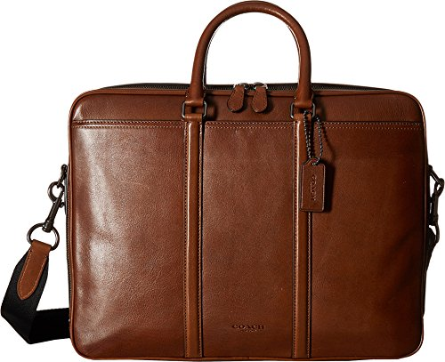 Coach Men's Metropolitan Commuter QB/Dark Saddle Laptop Bag