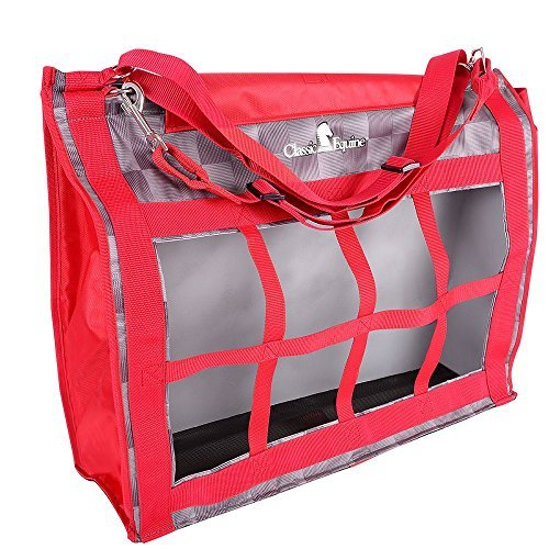(Classic Rope Company Designer Top Load Hay Bag Checker Red )