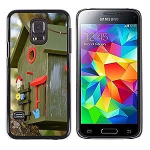 GoGoMobile Slim Protector Hard Shell Cover Case // M00123985 Aviary Colorful Color Bird Feeder // Samsung Galaxy S5 MINI SM-G800