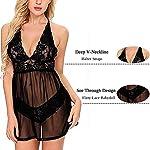 SEDEX-Sexy-Lingerie-Hard-Transparent-Chemise-Donna-Esotico-Pizzo-e-Mesh-Babydoll-Set-con-Scollo-a-V-Forti-con-G-String-Intimo