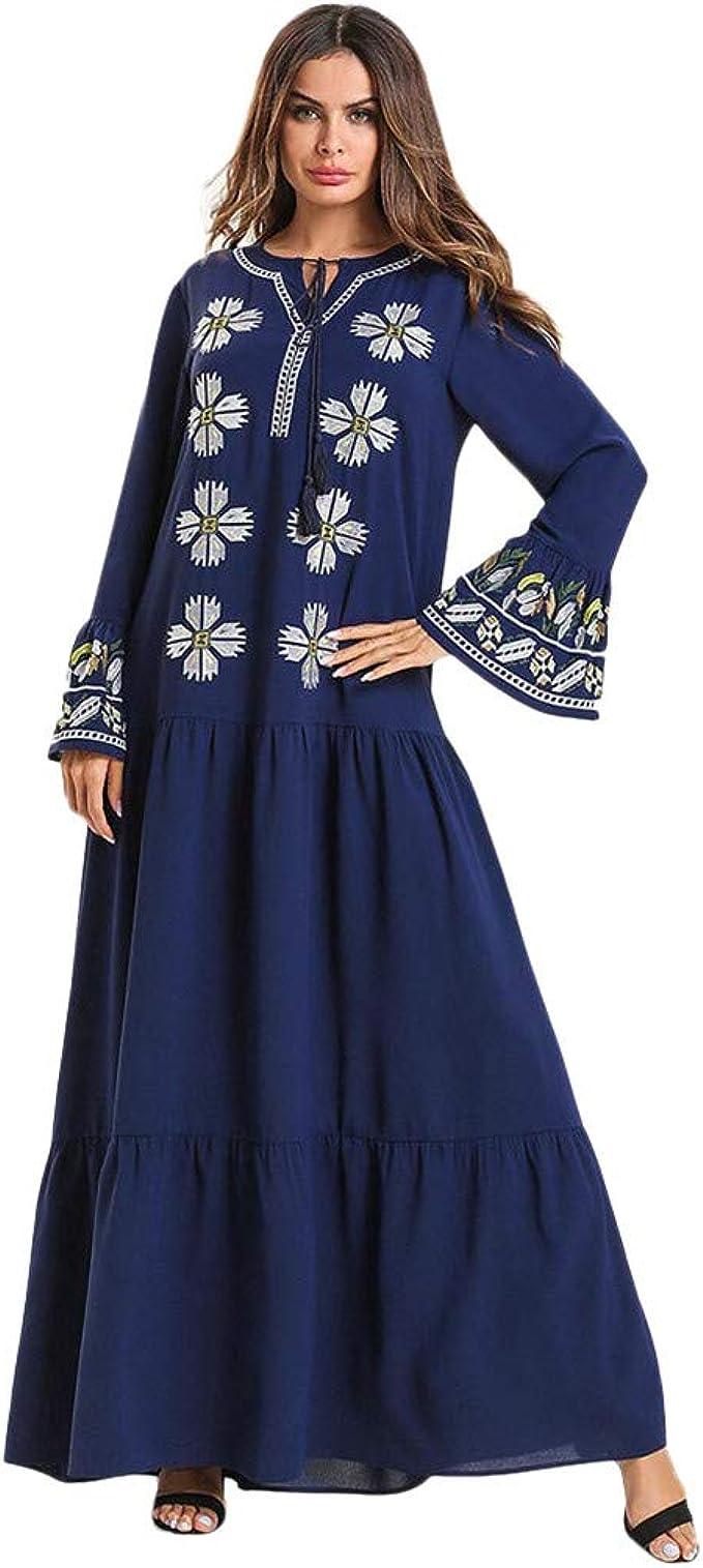 Frauen Abaya Muslimische Kleider Islamische Kleidung Maxikleid Kaftan Cocktail