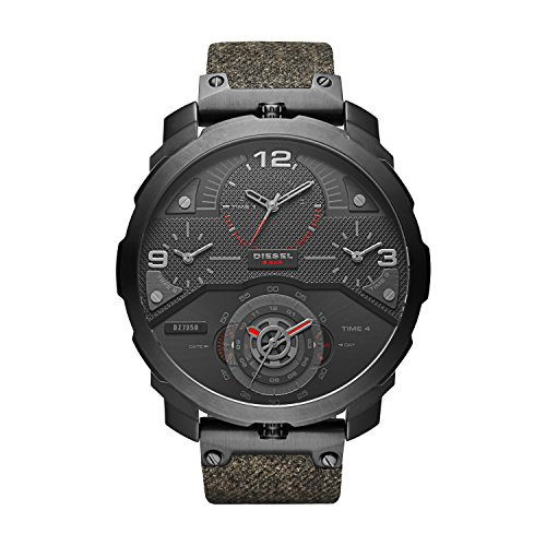 Diesel DZ7358 Mens Machinus Black IP Multifunction Watch