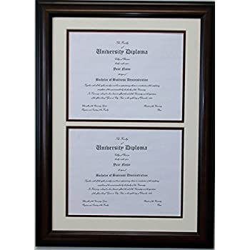 Amazon double diploma document certificate openings wood double diploma document certificate openings wood picture frame for two 85x11 8 1 solutioingenieria Image collections