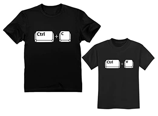 841ca14f5 Copy Paste Matching Set T-Shirts for Father & Son/Daughter Toddler & Men's