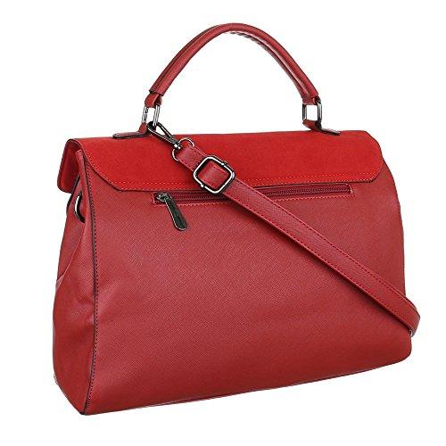 Schultertasche Handtasche Tragetasche Rot