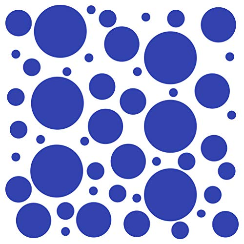- Set of 300 (Blue) Vinyl Wall Decals - Assorted Polka Dots Stickers - Removable Adhesive Safe on Smooth or Textured Walls - Round Circles - for Nursery, Kids Room, Bathroom Decor