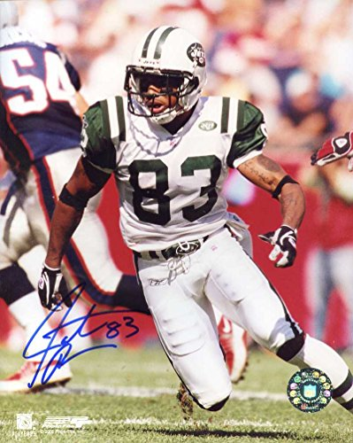 Santana Moss Autographed/ Original Signed 8x10 Action-photo w/ the New York Jets