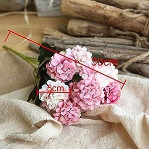 Mini Hydrangea Artificial Flower Small Bouquet Home Wedding Decoration Silk Flower Chrysanthemum Plant Wall Fake Flower,Orange 3