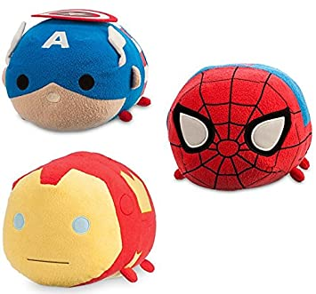 "Marvel Avengers Disney Tsum Tsum 11/"" Plush Captain Marvel"