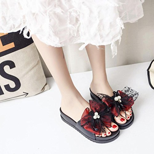 Outdoor Wide Red Pantshoes Slipper 3 Size Toe Jewelled Sandals Rhinestone Bling Summer Open Cushioned Beach 8 Flat Ladies Glitter Leather for Lolittas Diamante Fit Women xSYTwRn4