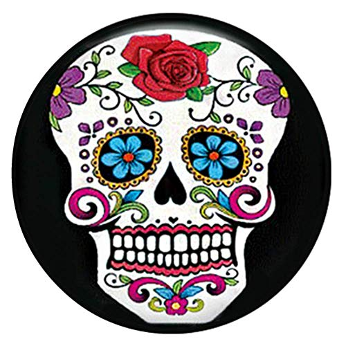 Snap Charm Happy Laughing Colorful Skull Painted Enamel 20mm 3/4