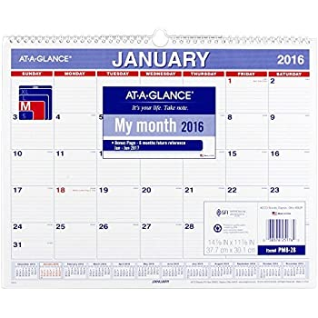 at a glance monthly wall calendar 2016 12 months 14 7 8 x 11 7 8 inch page size. Black Bedroom Furniture Sets. Home Design Ideas