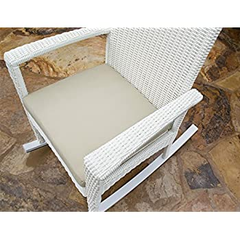 Tortuga Outdoor Bayview Wicker Rocking Chair (White Magnolia) - Comfortable Contemporary Patio and Outdoor Rocking Chair with Cushion