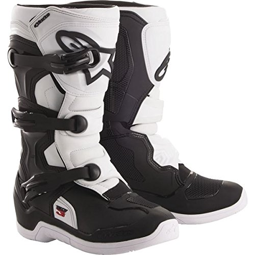Alpinestars Tech 3S Youth Motocross Off-Road Motorcycle Boots, Black/White, Size 2