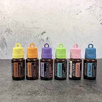 Amazon.com: Toppers de silicona con mosquetones para aceites ...