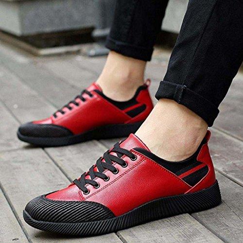 ZXCV Zapatos al aire libre Tendencia deportiva zapatos zapatos deportivos zapatos antideslizantes al aire libre para hombres de ocio Rojo