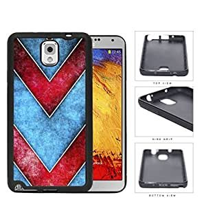 Large Chevron Blue/Red Grunge Rubber Silicone TPU Cell Phone Case Samsung Galaxy Note 3 III N9000 N9002 N9005