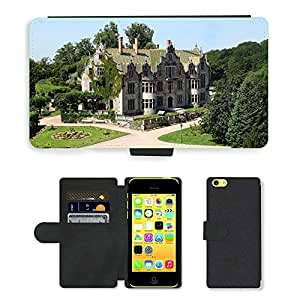 PU LEATHER case coque housse smartphone Flip bag Cover protection // M00171712 Estructura Altenstein Alemania Palace // Apple iPhone 5C