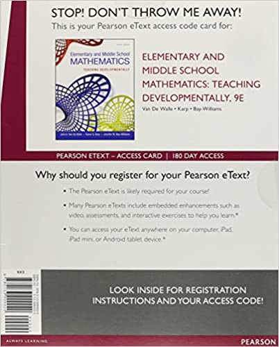 Amazon elementary and middle school mathematics teaching amazon elementary and middle school mathematics teaching developmentally enhanced pearson etext standalone access card 9th edition fandeluxe Image collections