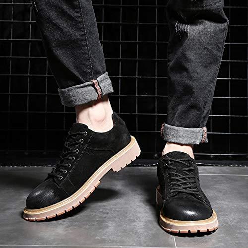 Altas Black De Británicas Martin Coreana Hombre Zapatos Botas Versión Desierto Y7f44T