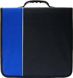 (1) CD / DVD Binder - 360 Capacity - Black & Blue- #2-CRY-E360BL