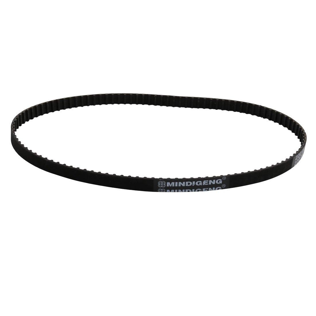 sourcingmap 222XL 111 Teeth 10mm Width Stepper Motor Rubber Timing Belt Black 1pcs