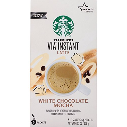 Starbucks VIA Earnest Coffee, White Chocolate Mocha, 30 Count