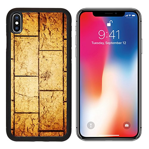 MSD Premium Apple iPhone X Aluminum Backplate Bumper Snap Case IMAGE ID 20447940 Abstract background brown aged brickwall grungy stonewall textured wallpaper build - Stonewalls Block