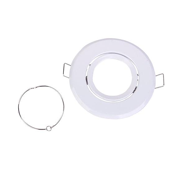 TOOGOO(R) 2 x 88mm MR16 Soportes de montaje para luces LED / halogenas de receso de Luz --- Blanco: Amazon.es: Bricolaje y herramientas