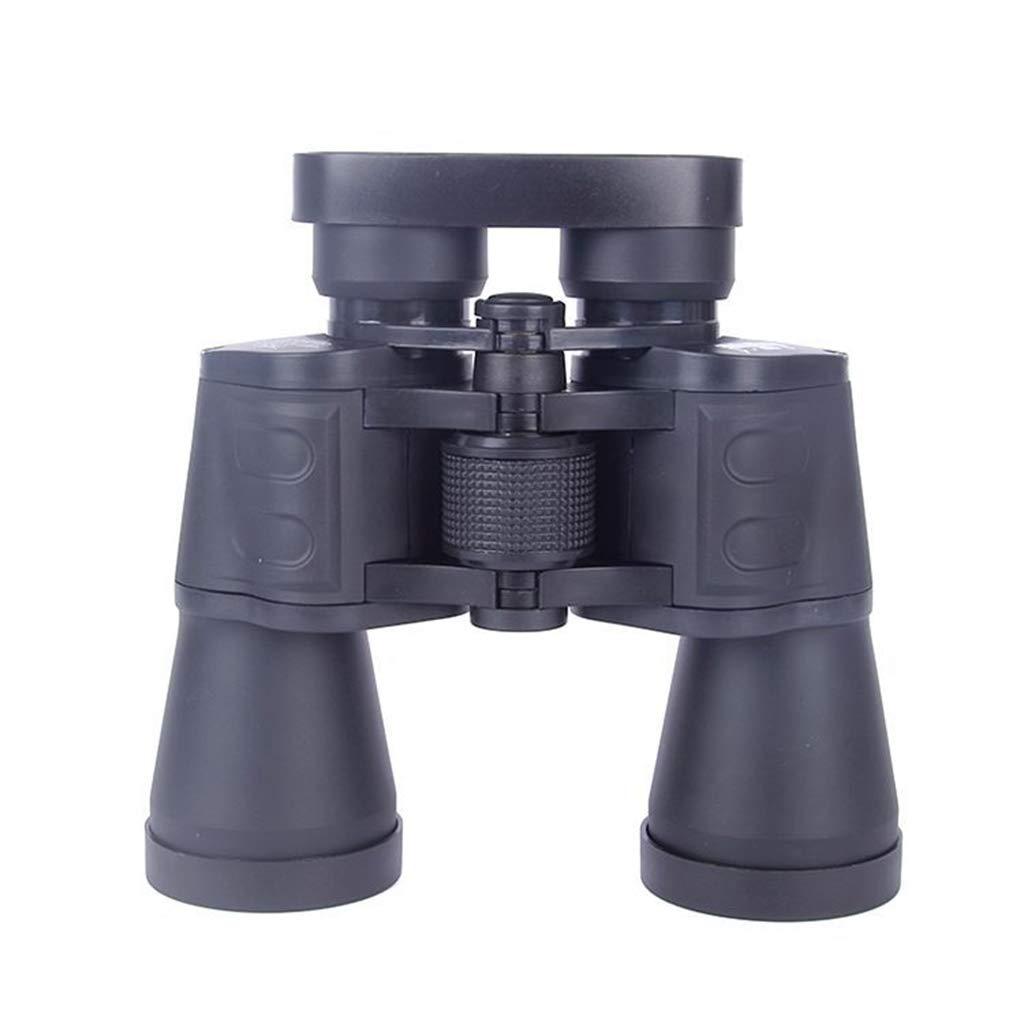 7×50 Double Barrel High Definition High Power Telescope Outdoor Portable Binoculars Night Vision Wide Angle Binoculars,Black by SummarLee