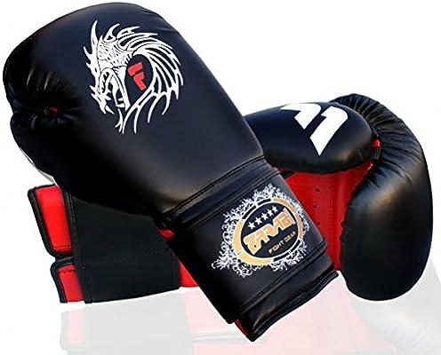 Guantes de boxeo piel Farabi Sports dise/ño de drag/ón