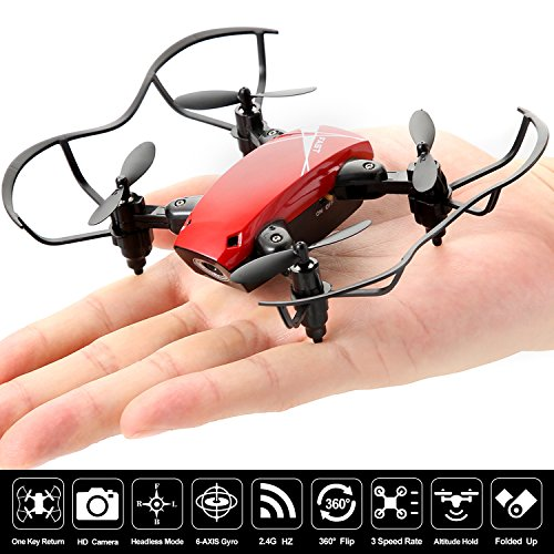 Mini RC Portable Pocket Foldable Drone Quadcopter with Camera,