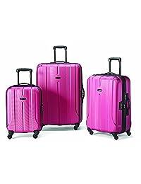 Samsonite Fiero 3-Piece Spinner Suitcase Set, Rose, Checked-Large