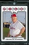 2008 Topps # 632 Charlie Manuel, Manager