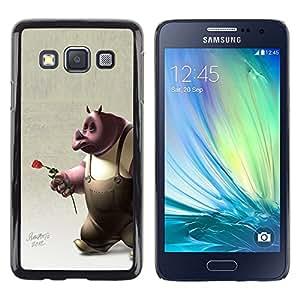 Be Good Phone Accessory // Dura Cáscara cubierta Protectora Caso Carcasa Funda de Protección para Samsung Galaxy A3 SM-A300 // Rose 3D Cartoon Character Rose Love