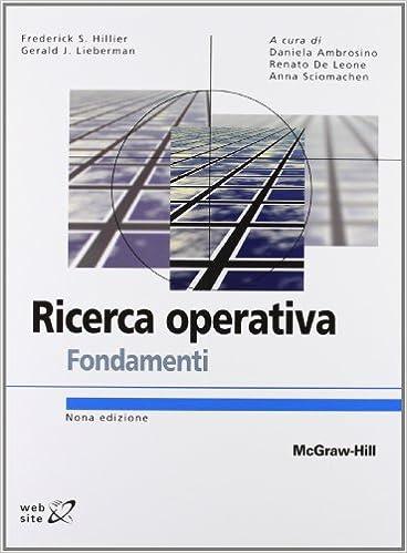 Hillier Lieberman Ricerca Operativa Pdf