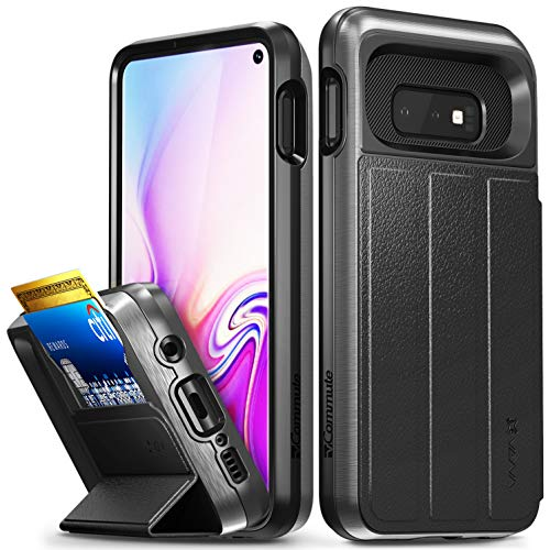 Vena Samsung Galaxy S10e Wallet Case, [vCommute][Military Grade Drop Protection] Flip Leather Cover Card Slot Holder with Kickstand Compatible with Samsung Galaxy S10 (5.8