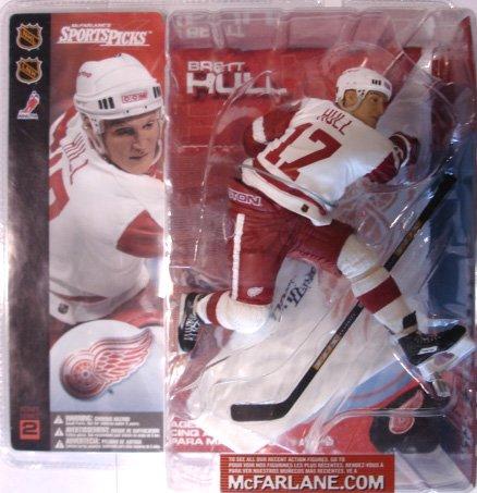 (McFarlane Toys NHL Sports Picks Series 2 Action Figure: Brett Hull (Detroit Red Wings) White)