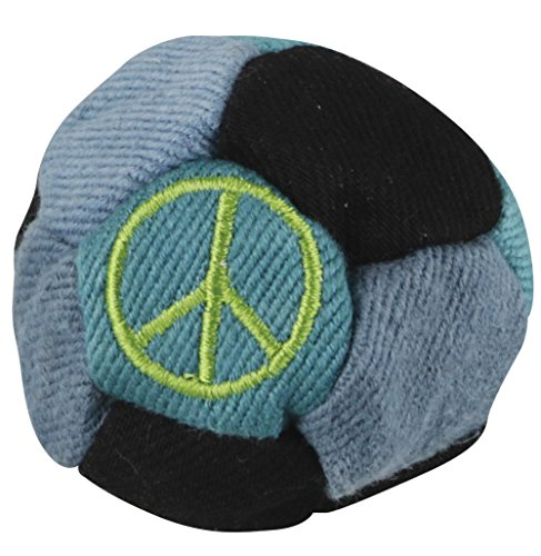 12 Panel Embroidered Peace Sign Patchwork Hemp Sand-Filled ()
