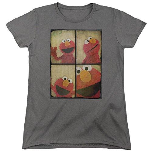Ladies Elmo Photo Booth Shirt, Charcoal, Medium