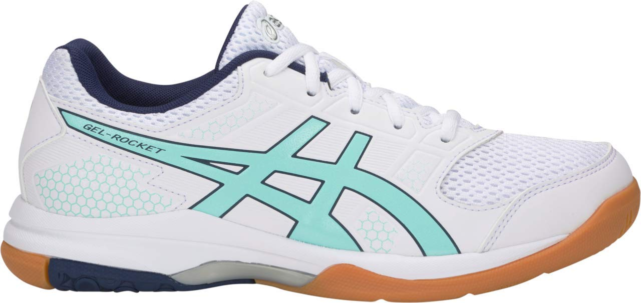 ASICS Gel-Rocket 8 Women's Volleyball Shoe, White/ICY Morning, 8 B US by ASICS
