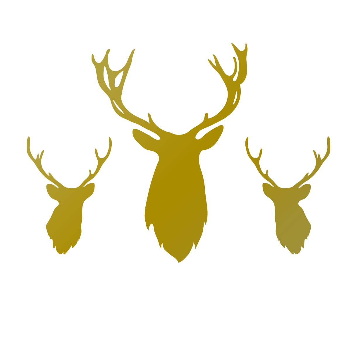 Cool Chrome Stags Head Wall Decoration Gallery - The Wall Art ...