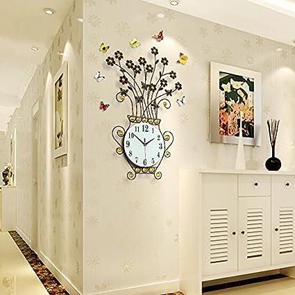 WXX Relojes de pared salón creativo reloj minimalista moderno reloj pared cuadros dormitorio luminoso reloj , black: Amazon.es: Hogar