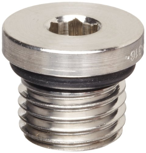 Parker A-Lok 8 HP5ON-SS 316 Stainless Steel Compression Tube Fitting, Hollow Hex Plug with O-ring, 3/4