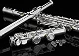 ENGRAVED SILVER Plated OPEN/CLOSED Hole C Flute