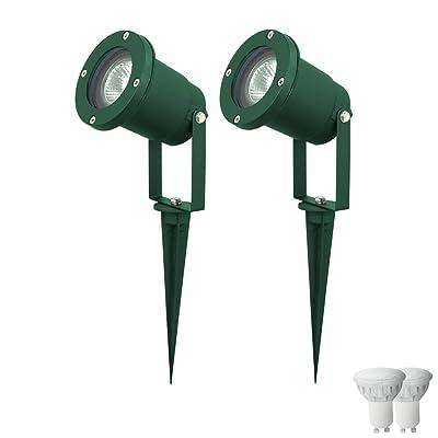 406e0f25985421 2 x borne à piquer DEL luminaire extérieur jardin lampe LED éclairage spot  terrasse balcon