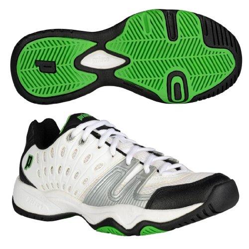 Prince T22 Junior Tennis Shoes White/black/green